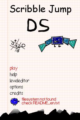 ScribbleJumpDS menu
